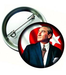 Atatürk Bayraklı  Yaka Rozetleri
