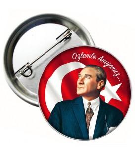 Özlemle Anıyoruz Atatürk Rozeti
