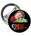 21 Mart Dünya Down Sendromu Farkındalık Günü Rozetleri