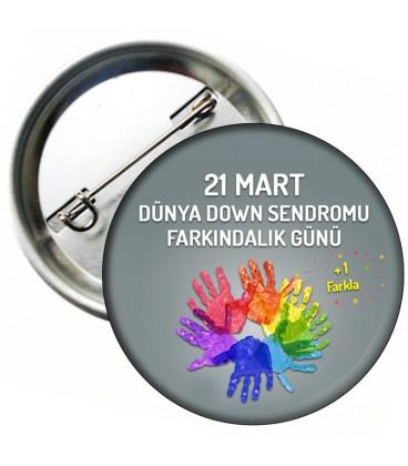 21 Mart  Down Sendromu Rozet 02