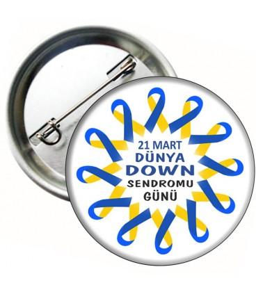 21 Mart  Down Sendromu Rozet 03