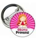 Okuma Prensesi  Yaka Rozeti