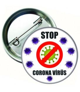 Corona Virüs Rozeti