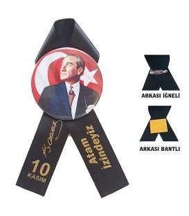 Atatürk Rozeti Siyah Kurdaleli