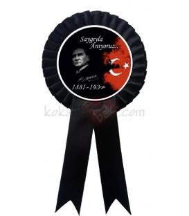 10 Kasım Tören Kokartı Siyah