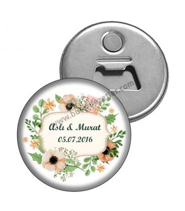 Magnet Şişe Açacağı Düğün Gününe Özel