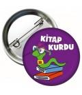 Kitap Kurdu Rozetleri Mor