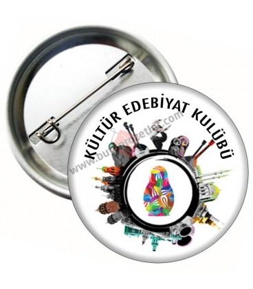 Kültür Edebiyat Kulübü Rozeti