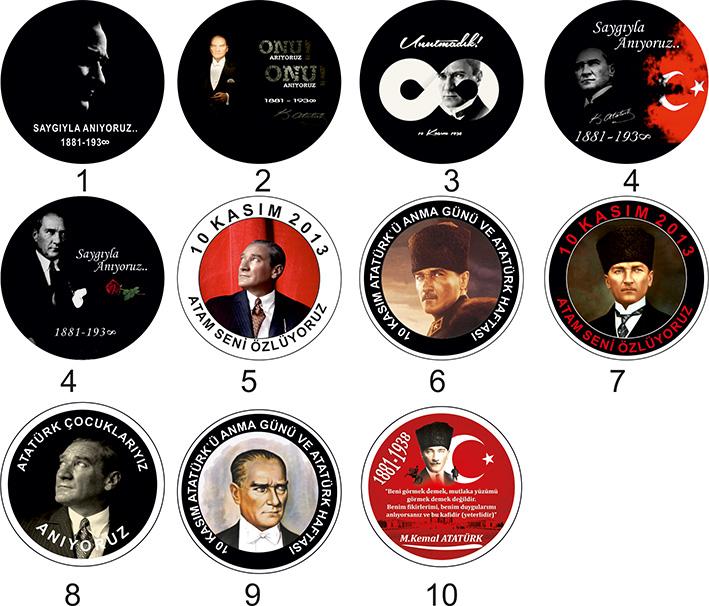 10 Kasım Atatürk Kokartları