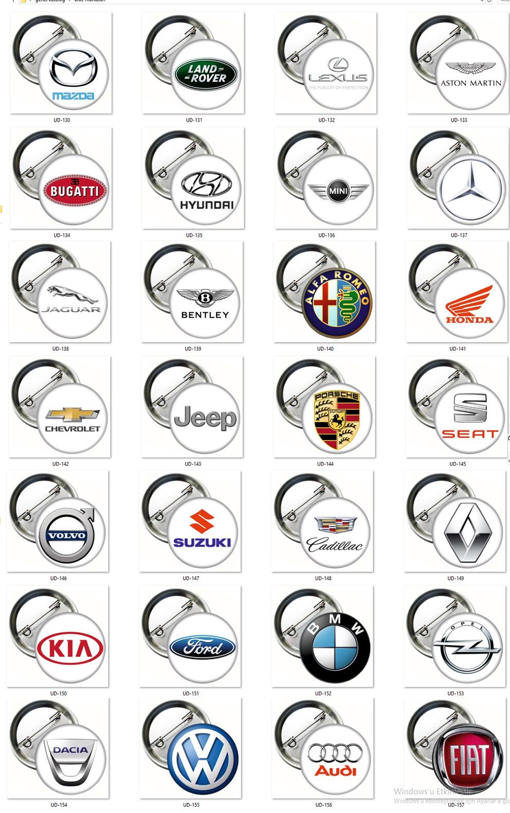 Araç Markaları Rozetleri