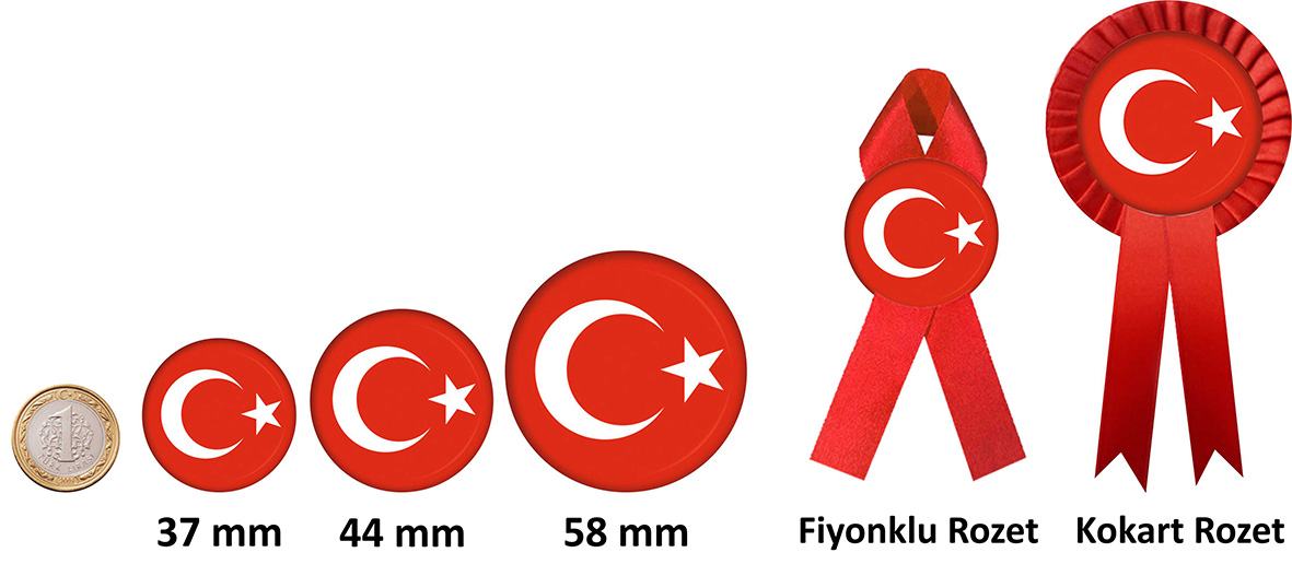 Türk Bayrağı rozetleri
